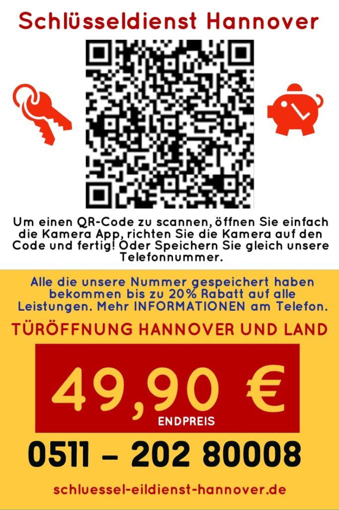 Schlüsseldienst Hannover Kosten. Türöffnung Kosten