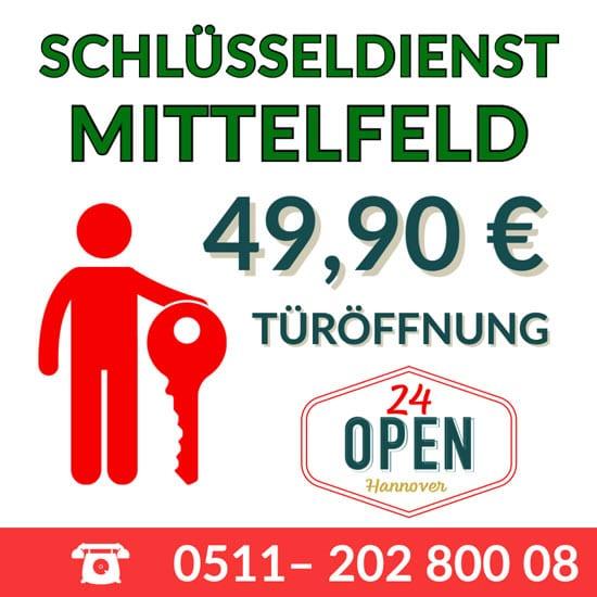Schlüsseldienst Hannover Mittelfeld Preistabelle