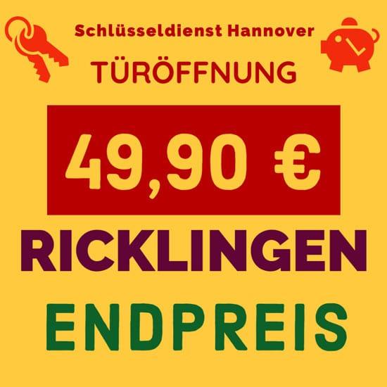 Schlüsseldienst Hannover Ricklingen Festpreis
