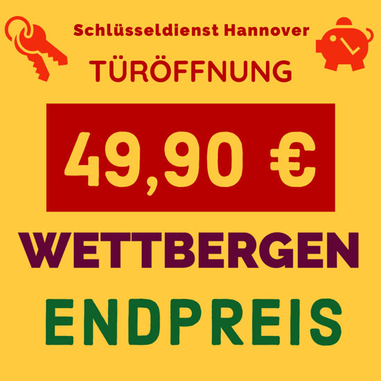 Preise Schlüsseldienst Hannover Wettbergen